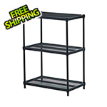 Design Ideas MeshWorks 3-Tier Shelving Unit (Black)