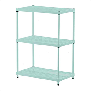 MeshWorks 3-Tier Shelving Unit (Sage)
