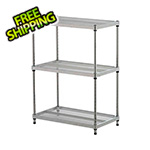 Design Ideas MeshWorks 3-Tier Shelving Unit (Silver)