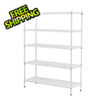 Design Ideas MeshWorks 5-Tier Shelving Unit (White)