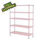 Design Ideas MeshWorks 5-Tier Shelving Unit (Pink)