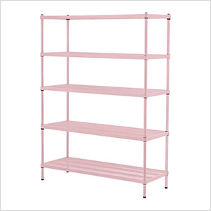 MeshWorks 5-Tier Shelving Unit (Pink)
