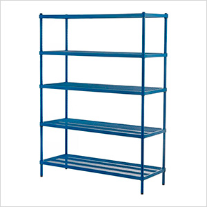 MeshWorks 5-Tier Shelving Unit (Blue)