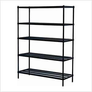 MeshWorks 5-Tier Shelving Unit (Black)