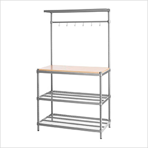 MeshWorks Utility Storage Rack (Silver)