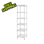 Design Ideas MeshWorks Narrow Shelving Unit (White)