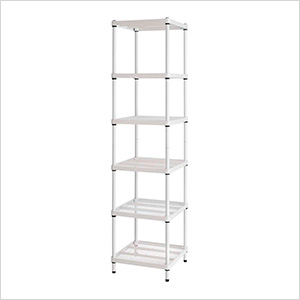 MeshWorks Narrow Shelving Unit (White)