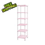Design Ideas MeshWorks Narrow Shelving Unit (Pink)