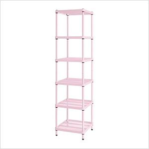 MeshWorks Narrow Shelving Unit (Pink)
