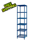 Design Ideas MeshWorks Narrow Shelving Unit (Blue)