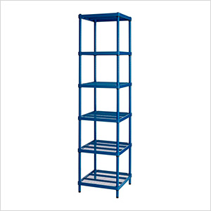 MeshWorks Narrow Shelving Unit (Blue)