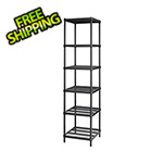 Design Ideas MeshWorks Narrow Shelving Unit (Black)