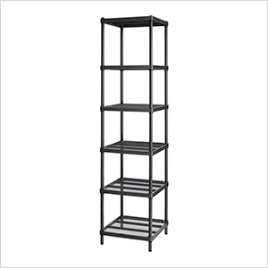 MeshWorks Narrow Shelving Unit (Black)