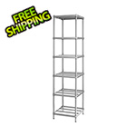 Design Ideas MeshWorks Narrow Shelving Unit (Silver)