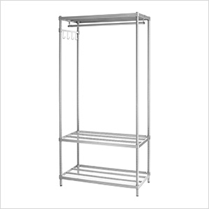 MeshWorks Clothing Rack (Silver)