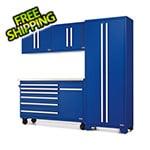 Proslat Fusion Pro 5-Piece Blue Garage Cabinet Set
