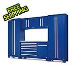Proslat Fusion Pro 6-Piece Blue Garage Cabinet Set