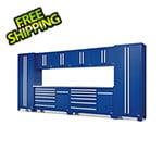 Proslat Fusion Pro 10-Piece Blue Garage Cabinet Set