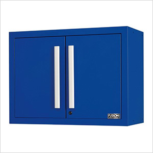 Fusion Pro Blue Wall Mounted Garage Cabinet