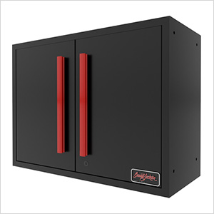Black and Red Wall Mounted Garage Cabinet