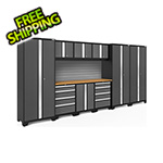 NewAge Products BOLD Series Grey 10-Piece Set with Bamboo Top and Backsplash