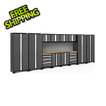 NewAge Products BOLD Series Grey 14-Piece Set with Bamboo Top and Backsplash