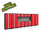 NewAge Products BOLD Series Red 14-Piece Set with Bamboo Top and Backsplash