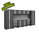 NewAge Garage Cabinets BOLD Series Grey 12-Piece Set with Stainless Steel Top and Backsplash