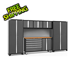 NewAge Garage Cabinets BOLD 3.0 Grey 6-Piece Project Center Set with Bamboo Top and Backsplash