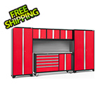 NewAge Garage Cabinets BOLD 3.0 Red 6-Piece Project Center Set with Stainless Top and Backsplash