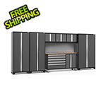 NewAge Garage Cabinets BOLD 3.0 Grey 7-Piece Project Center Set with Bamboo Top and Backsplash