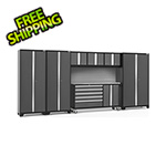 NewAge Garage Cabinets BOLD 3.0 Grey 7-Piece Project Center Set with Stainless Top and Backsplash