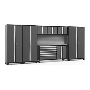 BOLD 3.0 Grey 7-Piece Project Center Set with Stainless Top and Backsplash