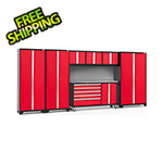 NewAge Garage Cabinets BOLD 3.0 Red 7-Piece Project Center Set with Stainless Top and Backsplash