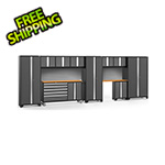 NewAge Garage Cabinets BOLD 3.0 Grey 11-Piece Project Center Set with Bamboo Top and Backsplash