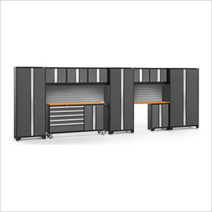 BOLD 3.0 Grey 11-Piece Project Center Set with Bamboo Top and Backsplash