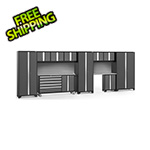 NewAge Garage Cabinets BOLD 3.0 Grey 11-Piece Project Center Set with Stainless Top and Backsplash