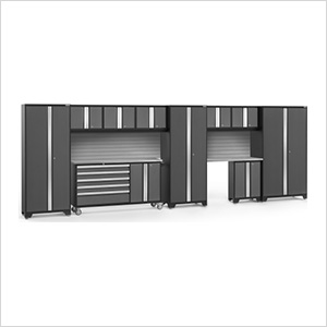 BOLD 3.0 Grey 11-Piece Project Center Set with Stainless Top and Backsplash