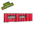 NewAge Garage Cabinets BOLD 3.0 Red 15-Piece Project Center Set with Bamboo Top and Backsplash
