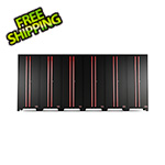 Barrett-Jackson Black and Red Tall Garage Cabinet (6-Pack)