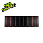Barrett-Jackson Black and Red Tall Garage Cabinets (8-Pack)