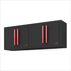 Black and Red Wall Mounted Garage Cabinet (2-Pack)