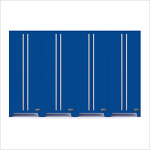 Fusion Pro Blue Tall Garage Cabinets (4-Pack)