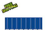 Proslat Fusion Pro Blue Tall Garage Cabinets (8-Pack)