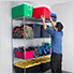 """NSF 4-Tier Wire Shelving Rack with Wheels - 60""""W x 72""""H x 24""""D"""
