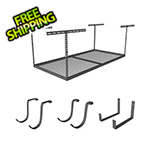 "SafeRacks 4'x8' Overhead Storage 24""-45"" Drop Combo (Includes 2 Racks and 18 Hooks)"