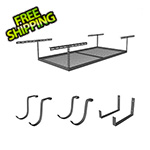 "SafeRacks 4'x8' Overhead Storage 12""-21"" Drop Combo (Includes 2 Racks and 8 Hooks)"