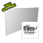Proslat 8' x 4' PVC Wall Slatwall Mini Bundle (White)