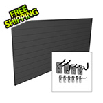 Proslat 8' x 4' PVC Wall Slatwall Mini Bundle (Charcoal)