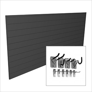 4' x 8' PVC Wall Slatwall Mini Bundle (Charcoal)